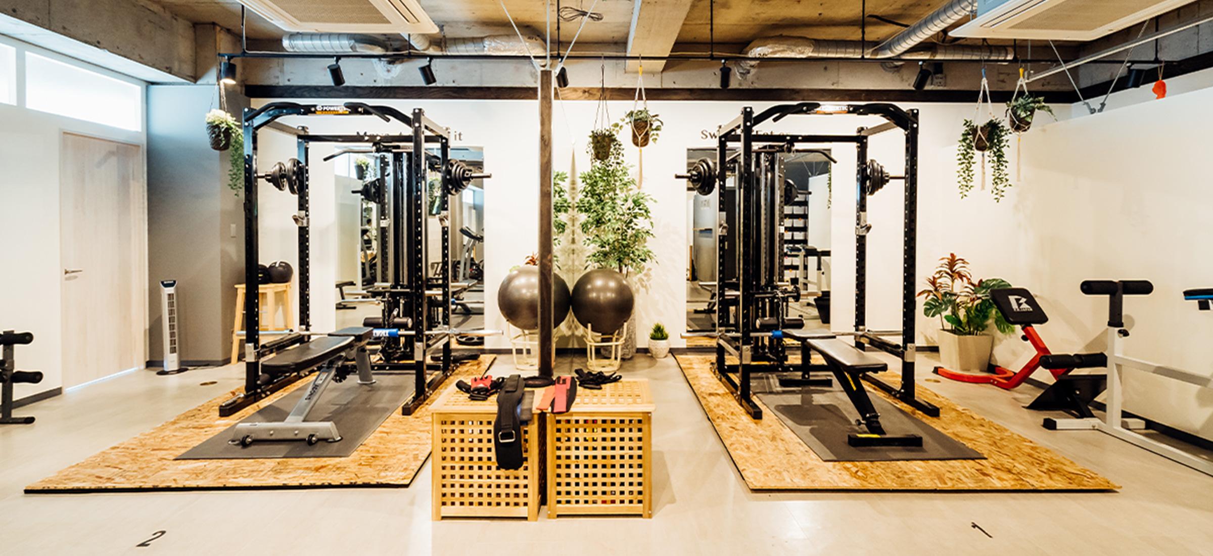 UNDEUX心斎橋スタジオのトレーニングスペース