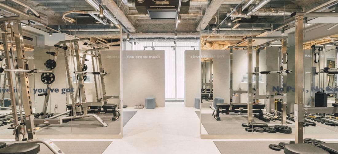 UNDEUX銀座スタジオのトレーニングスペース